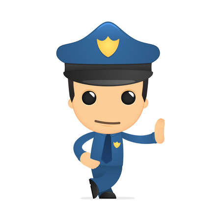 funny cartoon policeman Vector