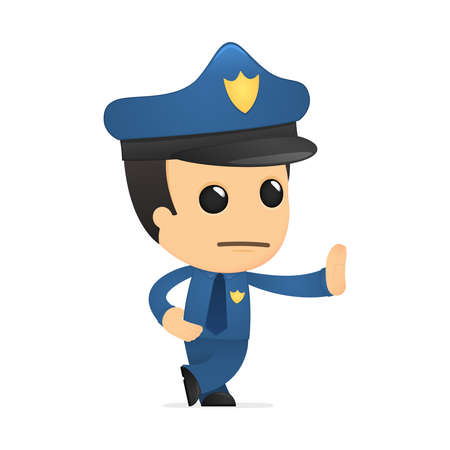 funny cartoon policeman Stock Vector - 13889721