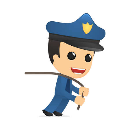 funny cartoon policeman Stock Vector - 13889859