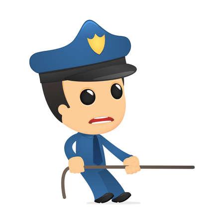 funny cartoon policeman Stock Vector - 13889848
