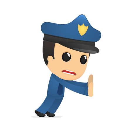 funny cartoon policeman Stock Vector - 13889733