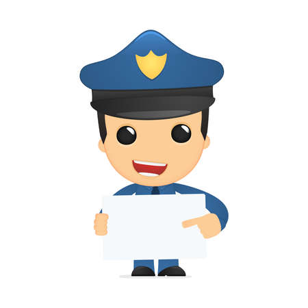 funny cartoon policeman Stock Vector - 13889853