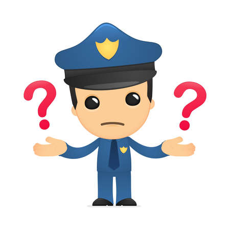 officers: funny cartoon policeman