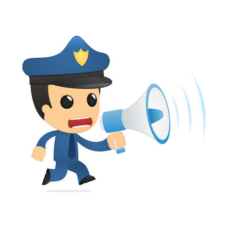 funny cartoon policeman Stock Vector - 13890035