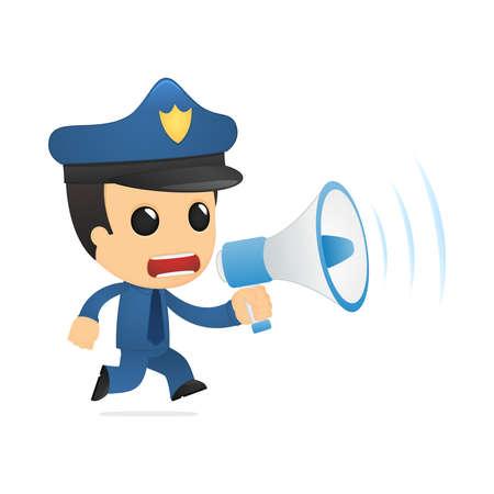 funny cartoon policeman Stock Vector - 13890035