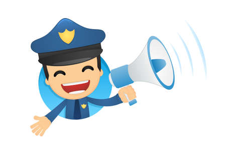 safety officer: funny cartoon policeman