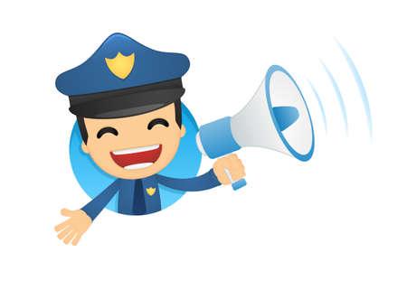 funny cartoon policeman Stock Vector - 13889946