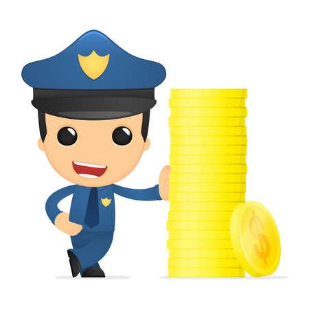 funny cartoon policeman Stock Vector - 13890154