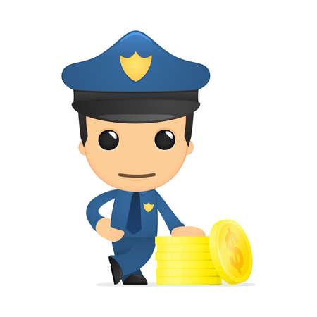 funny cartoon policeman Stock Vector - 13890142