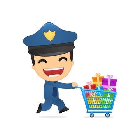 guard box: funny cartoon policeman