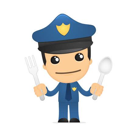 legal law: funny cartoon policeman