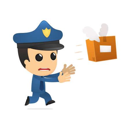 depository: funny cartoon policeman