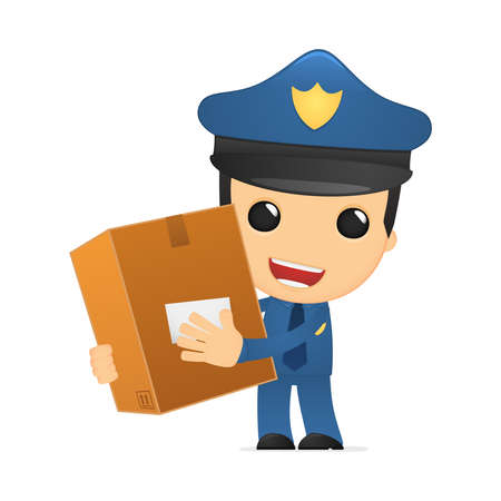 funny cartoon policeman Stock Vector - 13889973