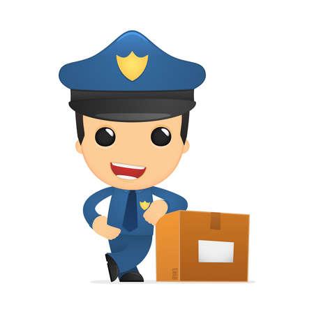 funny cartoon policeman Stock Vector - 13889999
