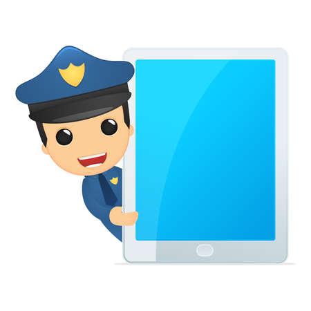 internet safety: funny cartoon policeman