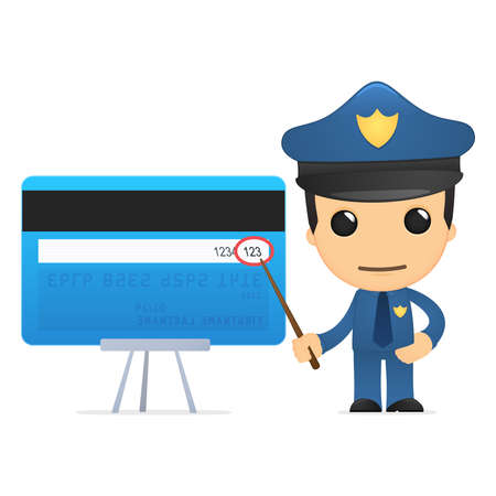 funny cartoon policeman Stock Vector - 13890149