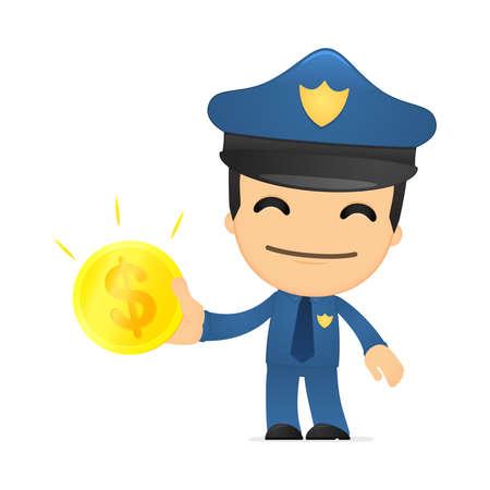 funny cartoon policeman Stock Vector - 13890106