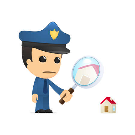 guard house: funny cartoon policeman