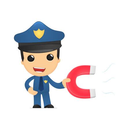 polarize: funny cartoon policeman