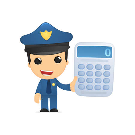 maths department: funny cartoon policeman