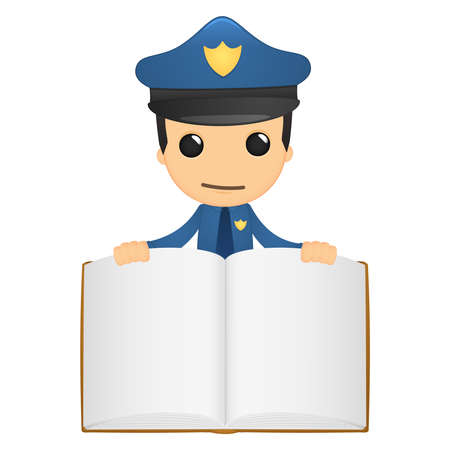 literary man: funny cartoon policeman