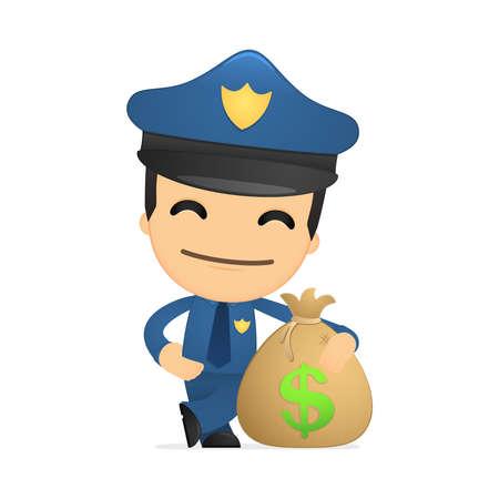 police uniform: funny cartoon policeman