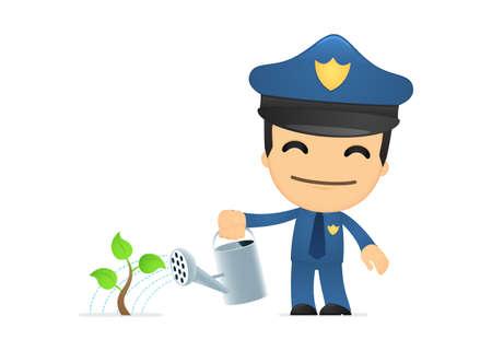 arrested: funny cartoon policeman