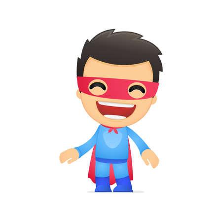 funny cartoon superhero Stock Vector - 13890206
