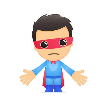 funny cartoon superhero Stock Vector - 13890238