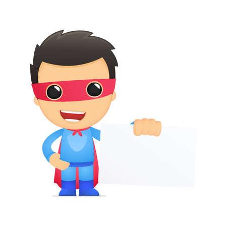funny cartoon superhero Stock Vector - 13890290