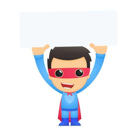 funny cartoon superhero Stock Vector - 13890266