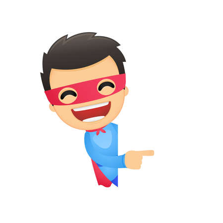 funny cartoon superhero Stock Vector - 13890193
