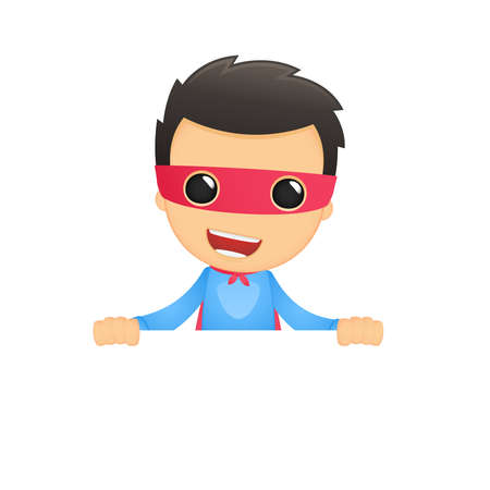 funny cartoon superhero Stock Vector - 13890202