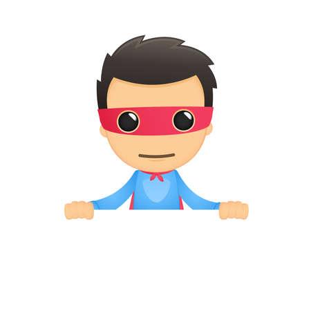 funny cartoon superhero Stock Vector - 13890197