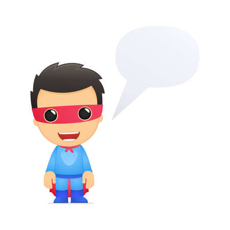 knowledge is power: funny cartoon superhero