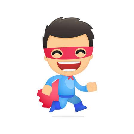 defender: funny cartoon superhero