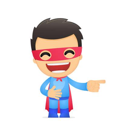 powerful man: funny cartoon superhero
