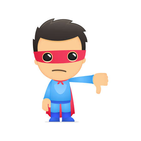 defending: funny cartoon superhero