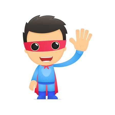 funny man: funny cartoon superhero
