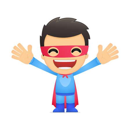 funny mask: funny cartoon superhero