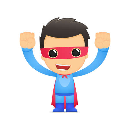 super guy: funny cartoon superhero