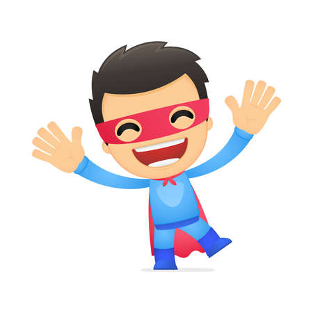 funny cartoon superhero Vector