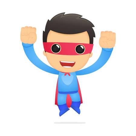 super human: superh�roe de dibujos animados divertidos