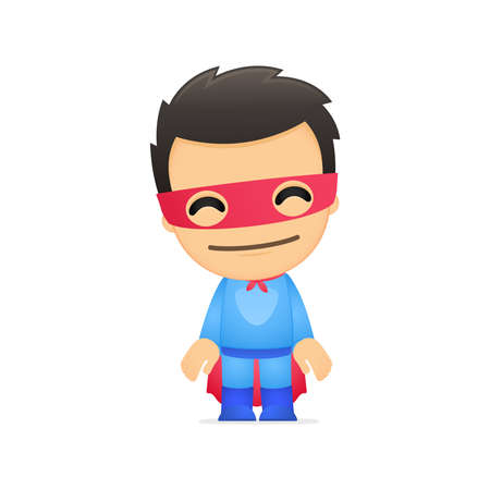superhuman: funny cartoon superhero