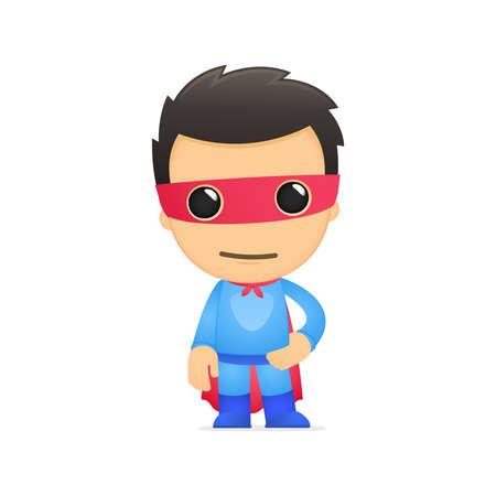 funny cartoon superhero Stock Vector - 13890244
