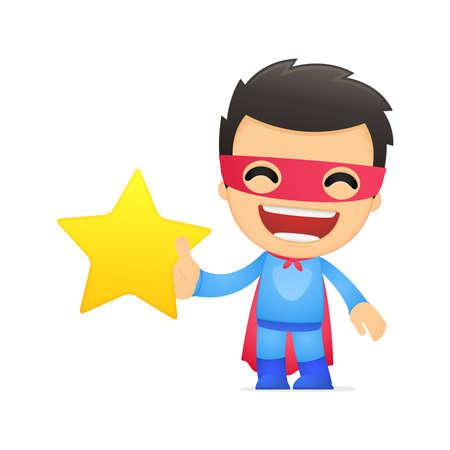 super star: funny cartoon superhero
