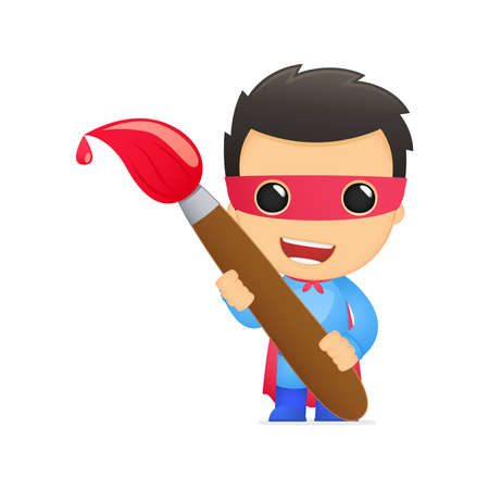 heroic: funny cartoon superhero