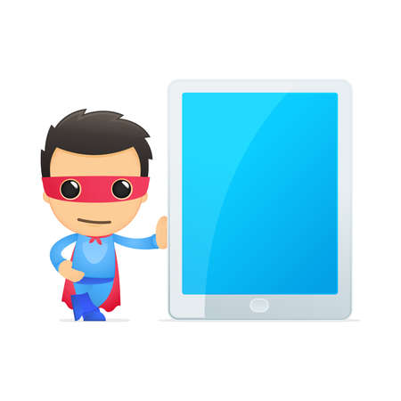 funny cartoon superhero Stock Vector - 13890344