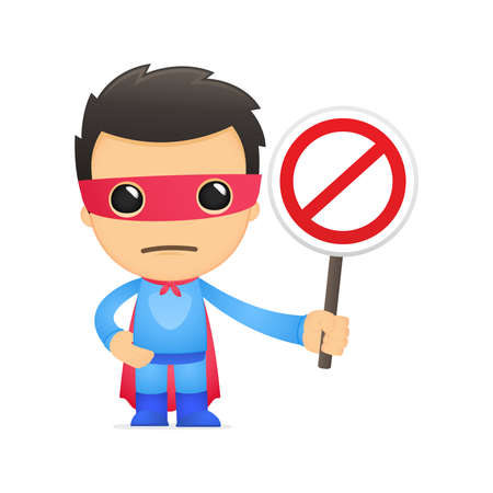 superman: funny cartoon superhero