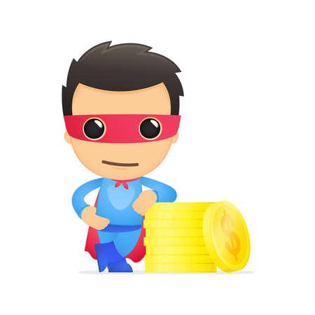funny cartoon superhero